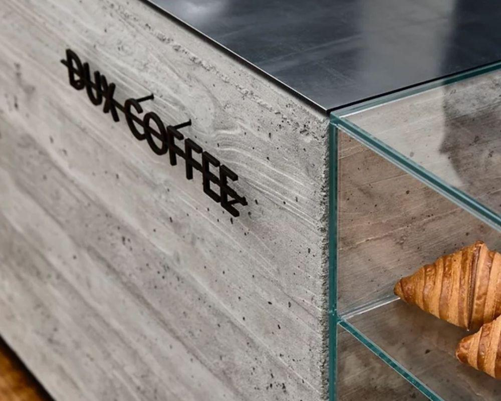 dux coffee bar bench square